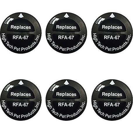 High Tech Pet Products Replacement Battery for Model RFA-67, 6-Pack