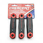 Crescent 3 Pc. Folding SAE/Metric/Torx Dual Material Key Set