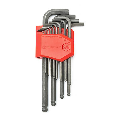 Crescent 13 Pc. Long Ball End SAE Hex Key Set