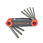 Crescent 8 Pc. Folding Torx Dual Material Key Set