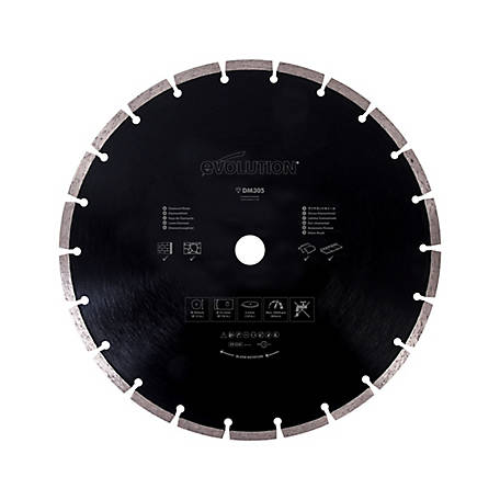 Evolution Concrete & Masonry Saw Blade, 12 in., 0 Tooth, 1237472
