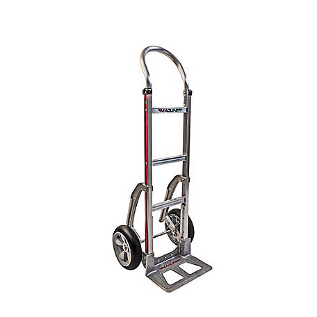 Magliner 2-Wheel Hand Truck with Straight Back Frame, U-Loop Handle, 14 in. x 7-1/2 in., HMK111AAG5