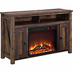 Ameriwood Home Farmington Electric Fireplace TV Console for TVs up to 50 in., Dark Rustic Pine