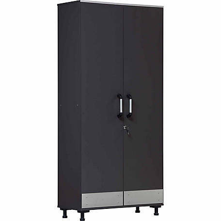 Systembuild Boss Tall Storage Cabinet Steel Gray