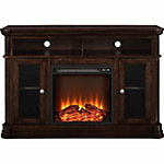 Ameriwood Home Brooklyn Electric Fireplace TV Console for TVs up to 50 in., Espresso