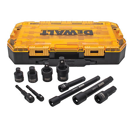 DeWALT 10-Piece 3/8 in. and 1/2 in. Drive Impact Accessory Set