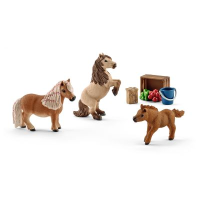Schleich Miniature Shetland Pony Family