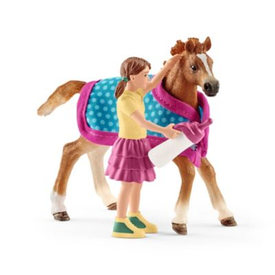 Schleich Foal with Blanket