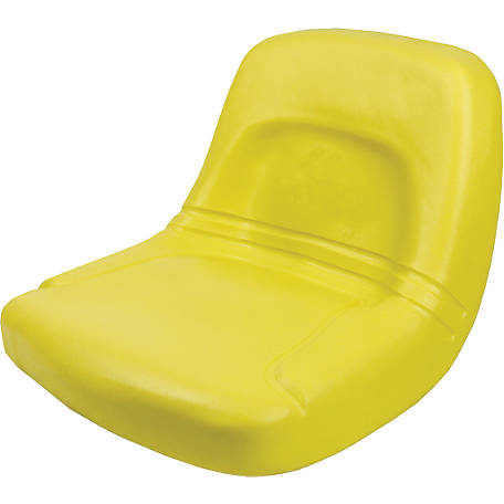 Black Talon High Back Steel Pan Seat, Yellow, 155000-YE