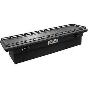 black truck tool box tractor supply co 70 in crossover single lid low profile 10108
