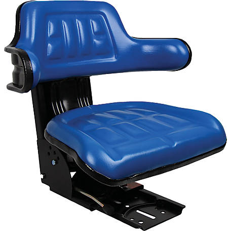 Black Talon Universal Tractor Seat with Adjustable Suspension, Blue, 1238169