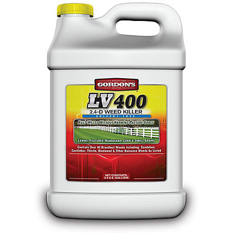 Gordon's LV 400 2,4-D Weed Killer Concentrate, Solvent Free, 2.5 gal., 8601122