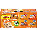 Friskies Chicken Lovers Wet Cat Food Variety Pack, 5.5 oz. Can, Pack of 32