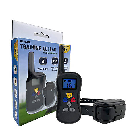 Pet Training Collar with Rechargeable Remote, 450 Yard Range