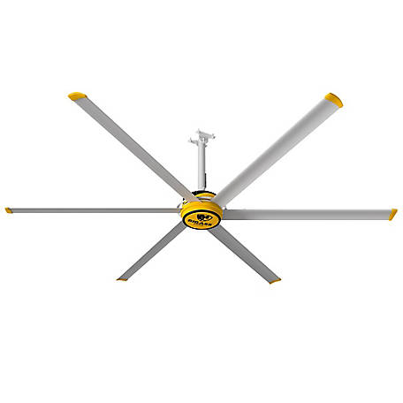 Big Ass Fans BAF 3025 Shop Variable Speed Ceiling Fan with Wall Control, F-ES2-1001S34