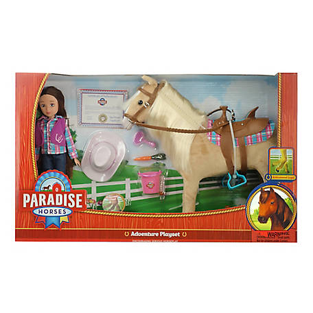 Paradise Horses 10 in. Doll Cowgirl & Horse Set, TSC7905
