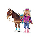 Paradise Horses 18 in. Western Doll & Horse Set