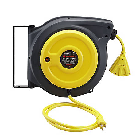 JobSmart 12-Gauge 50 ft. Cord Reel