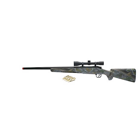 New-Ray Realistic Green Camouflage Rifle with Light and Sound, 66236A