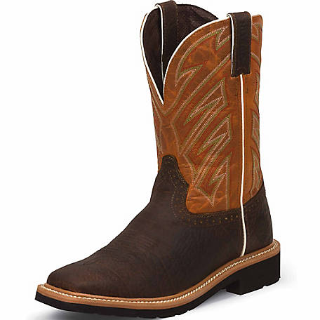 b29367dce02 Justin Original Work Boots Men's Dark Chestnut Stampede Square Toe Work  Boot at Tractor Supply Co.