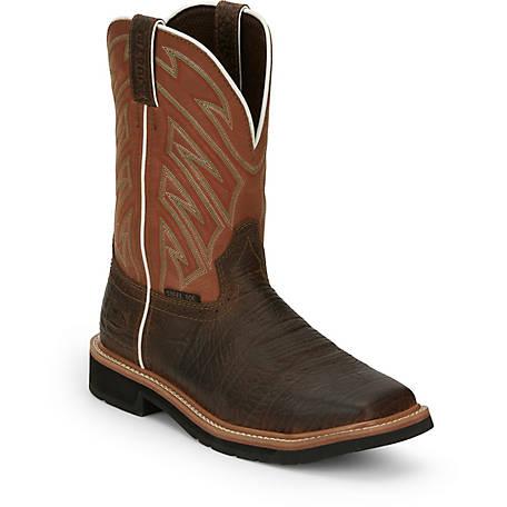 Justin Original Work Boots Men S Dark Chestnut Stampede