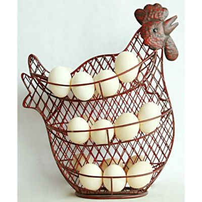 Red Shed Wire Chicken Egg Holder