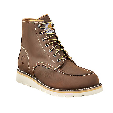 Carhartt Footwear Men's 6 in Brown Waterproof Wedge Boot