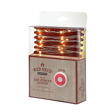 Red Shed LED Warm White String Lights, 10 ft.