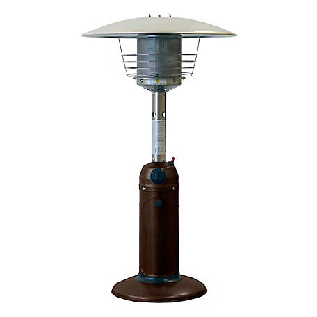 Hiland AZ Patio Heaters Table Top Patio Heater, Hammered Bronze