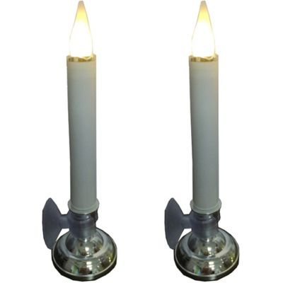 LED Candle with Suction Cup; 2 Pack