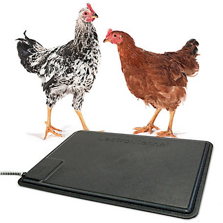 K&H Pet Products Thermo-Chicken Heated Pad, Black, 12.5 in. x 18.5 in., 40W