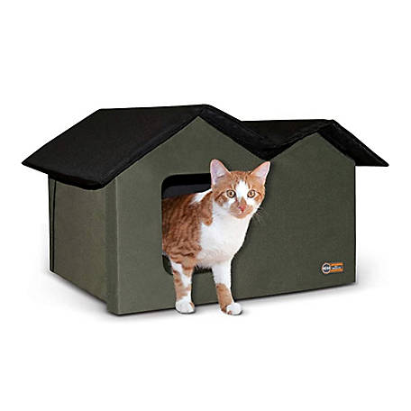 K&H Pet Products Outdoor Unheated Kitty House, Extra-Wide
