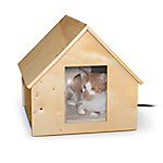 K&H Pet Products Birchwood Manor Thermo-Kitty Home, Heated, Natural Wood