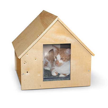 K&H Pet Products Birchwood Manor Kitty Home, Unheated, Natural Wood