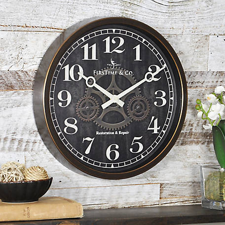 FirsTime Industrial Gears Wall Clock