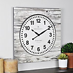 FirsTime Weathered Square Wall Clock