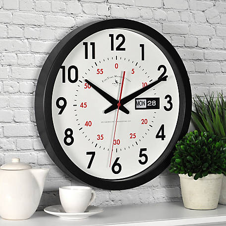 FirsTime Harris Day/Date Wall Clock