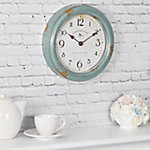 FirsTime Teal Patina Wall Clock