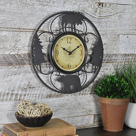 FirsTime Wildlife Wire Wall Clock