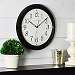 FirsTime Black Slim Wall Clock
