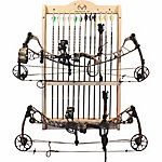 Rush Creek Creations Realtree 2-Compound Bow & 12-Arrow Wall Wood Storage Rack
