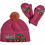John Deere Girl's Winter Hat and Mittens Set