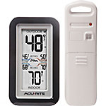 AcuRite Black Digital Thermometer with Indoor/Outdoor Sensor