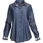 Bit & Bridle Women's Long Sleeve Denim Snap Front Shirt