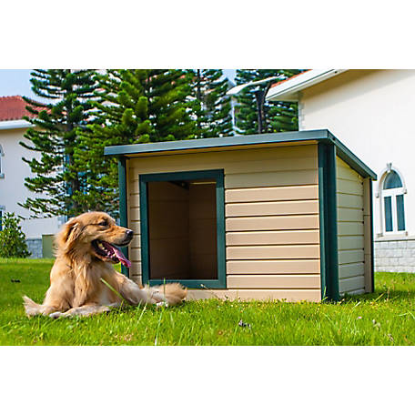 New Age Pet ecoFLEX Rustic Lodge Dog House, Extra-Large