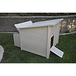 New Age Pet ecoFLEX Jumbo Fontana Chicken Barn, Maple Chicken Coop