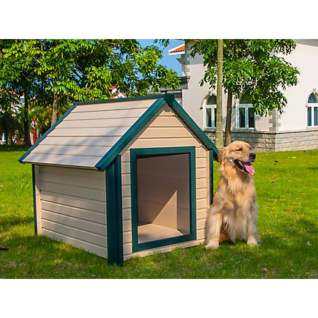 ecoFLEX New Age Pet, Bunkhouse Style Dog House, made with ECOFLEX- Large, ECOH103L
