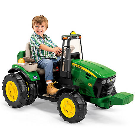 peg perego john deere dual force ride on tractor at. Black Bedroom Furniture Sets. Home Design Ideas