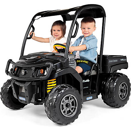John Deere Gator >> Peg Perego John Deere Gator Xuv Midnight Black At Tractor Supply Co