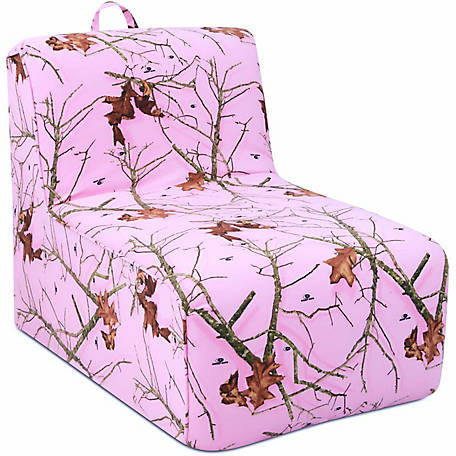 Mossy Oak Nativ Living Tween Lounger with Handle, Mossy Oak Lifestyle Pink
